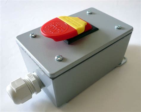safety paddle on switch in metal enclosure for 110v