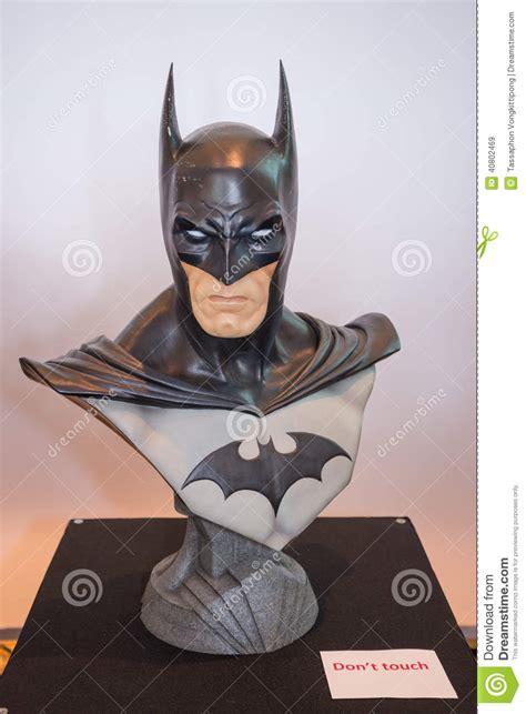 batman head chest model  display editorial stock image