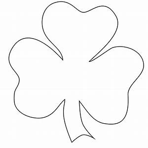 free printable shamrock coloring pages for kids With shamrock cut out template