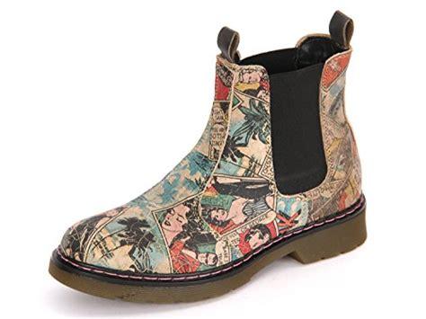 Bullboxer Chelsea-boots Beige Mit Comic-print, Schwarze
