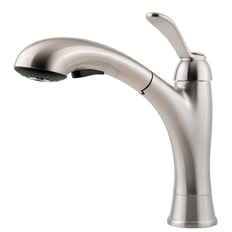 3 kitchen faucet pfister clairmont 1 handle 1 or 3 hole pull out kitchen faucet in stainless steel the home