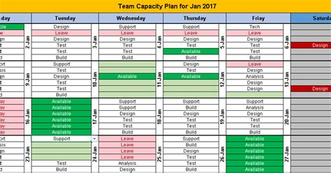 excel team calendar template  plan monthly