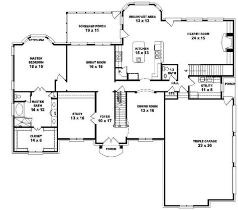 2 5 bedroom house plans 653616 2 style floor plan with 5 bedrooms house plans floor plans home plans