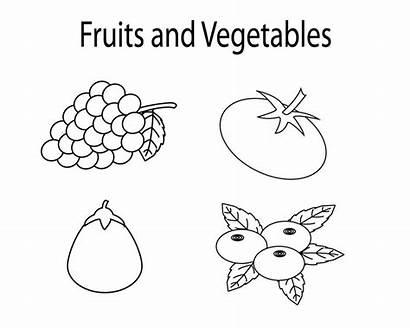 Vegetables Fruits Coloring Fruit Vegetable Printable Worksheets