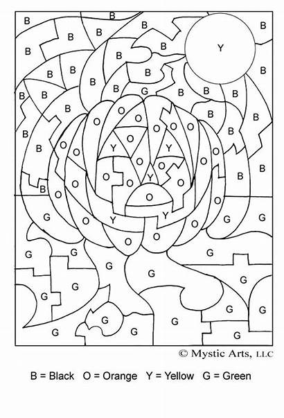 Numbers Coloring Letter Halloween Link Number Pages
