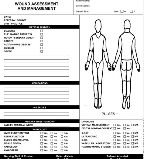Wound Care Plan Template by Wound Assessment Past And Current Wound History