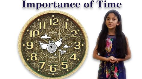 Speech on Importance of Time | The value of time - YouTube