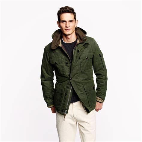 wallace and barnes lyst j crew wallace barnes lined gransden jacket in
