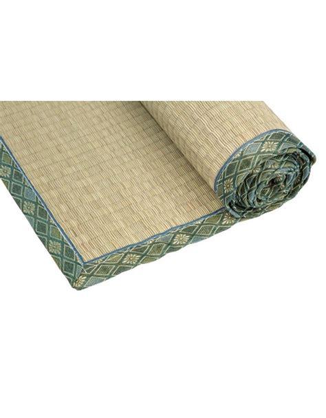 Japanese Floor Mat - traditional japanese goza mat for 90 x 200 cm green