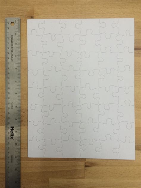 letter size blank white matte board puzzle  duel