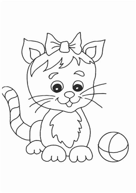 gambar mewarnai kucing  anak sdtk  paud