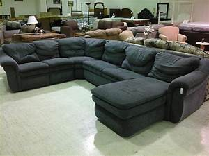 Black sectional sofa with recliners thesofa for Sectional sofa with reclining ends