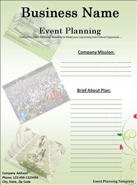 event planning template  word templatesfree word