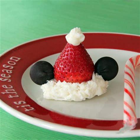 mickeys strawberry santa hats disney family