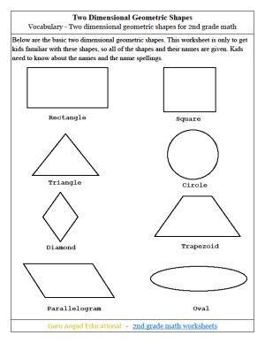 worksheets geometric shapes     kb png