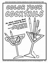 Coloring Martini Getcolorings Pages Cocktails Adult Print Cocktail Printable sketch template