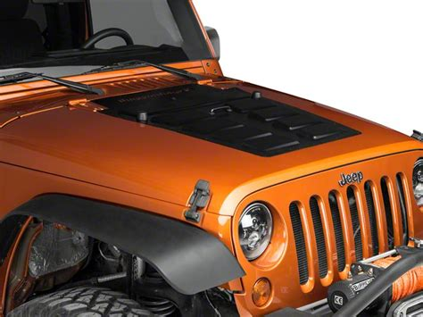 jeep vented hood how to install a rugged ridge hood vent insert black on
