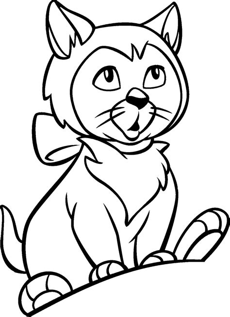 coloring pages for kids cat coloring pages for kids