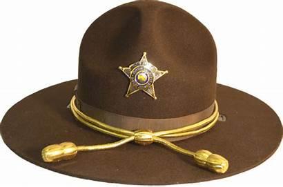 Brown Hat Campaign Felt Brim Triple Police