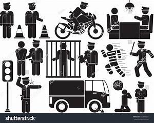 Policeman Icon Set Stock Vector 252840571 - Shutterstock