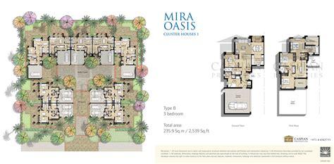 3 Bedroom House Floor Plan by Reem Mira Oasis Floor Plans