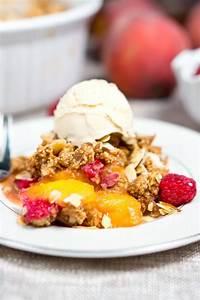 Peach Raspberry Crumble Delicious Meets Healthy