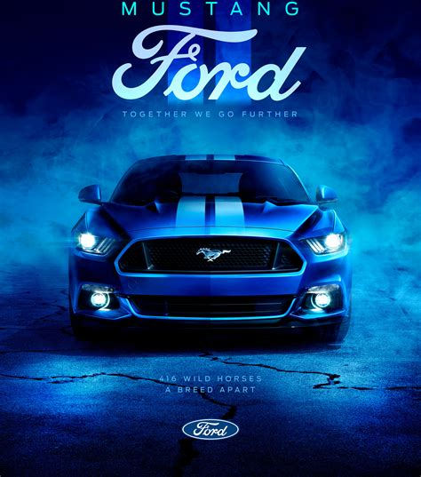 Wallpaper Ford Mustang, Blue, 4k, Automotive / Cars, #15758
