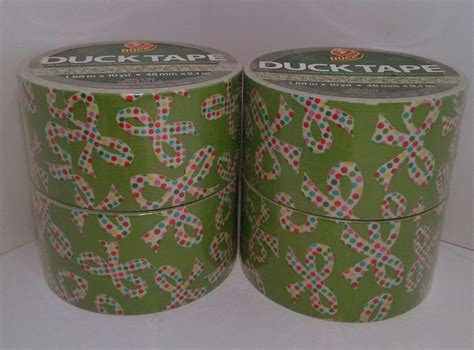 4 duck brand polka dot bows green decorative