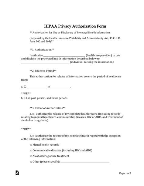 Hipaa Medical Release Form Pdf