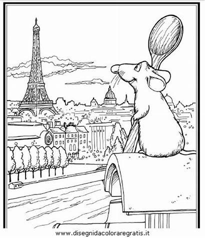 Eiffel Tour Ratatouille Colorier Coloriage Dibujos Dessin