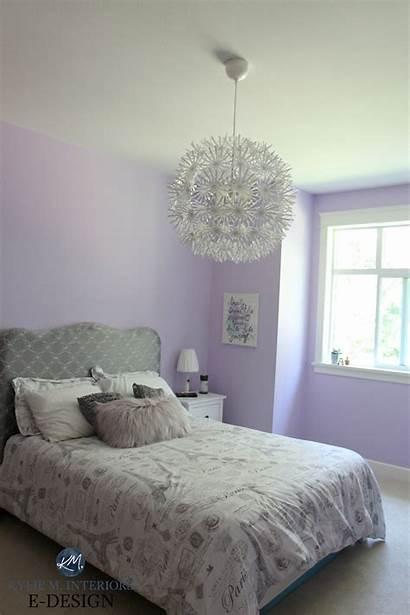 Paint Bedroom Colour Lavender Purple Gray Moore