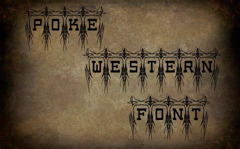 cowboy  western fonts   creative