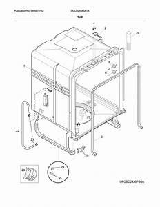 Frigidaire Model Dgcd2444sa1a Dishwasher Genuine Parts