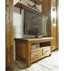 Tv Hifi Möbel : tv fernsehschrank klein mit 2 schubladen massiv aus holz ~ Bigdaddyawards.com Haus und Dekorationen