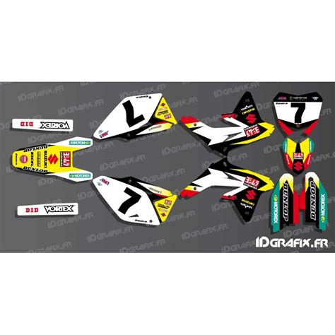 kit deco us ama stewart series for suzuki rm rmz idgrafix