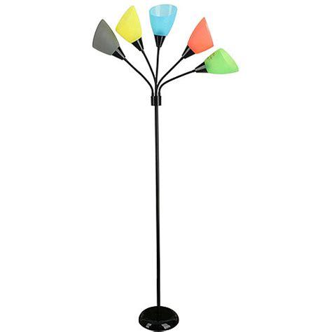 5 light multi colored floor l kids teens 5 light colorful floor lamps multi directional