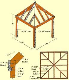 building plans for 10x10 pavilions diy gazebo plans