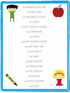 child care daily routine template - helping your child with childcare transitions tiny toes