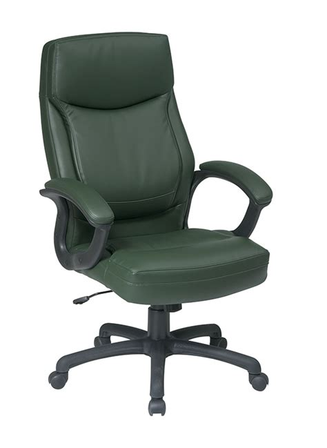 work smart ec series executive high back green eco leather