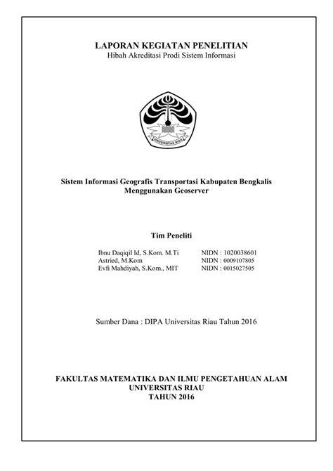 (PDF) Sistem Informasi Geografis Transportasi Kabupaten