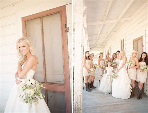 country western wedding photography bridesmaids