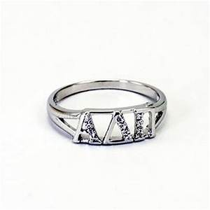 alpha delta pi greek letter ring with diamonds With greek letter rings