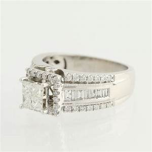 composite diamond engagement ring 14k white gold halo 1 With composite wedding rings