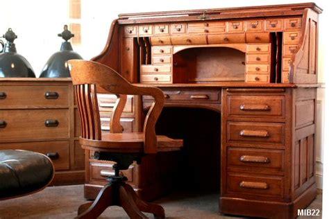 bureaux bois massif bureau à cylindre