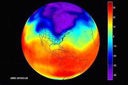 Map Thermal Earth Heat Polar Vortex Satellite