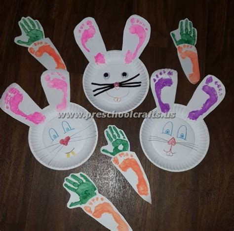 easter bunny crafts  kids preschool  kindergarten