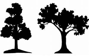 Trees Silhouette Vector dxf File Free Download - 3Axis co