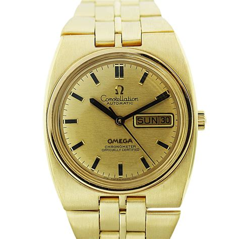 18k Yellow Gold Omega Constellation Day-Date Mens Watch ...