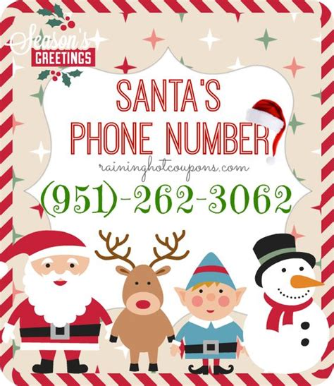 phone number for santa the world s catalog of ideas