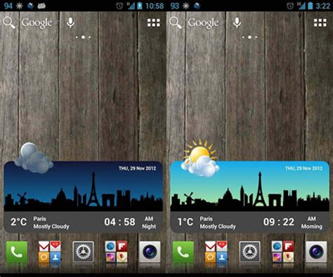 android home screen widgets 20 beautiful weather widgets for your android home screens